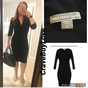 REVOLVE JAMES PERSE LBD DRESS RUCHED BODYCON 4